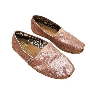 Toms Pink Glitter Sparkle Shoes